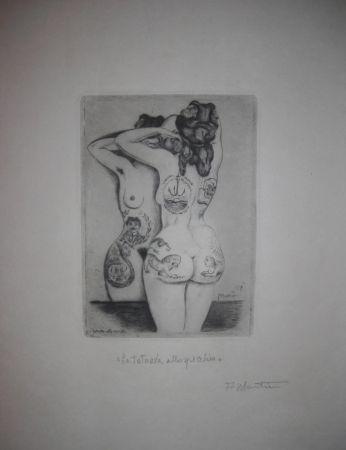 Гравюра Сухой Иглой Martini - La tatuata allo specchio