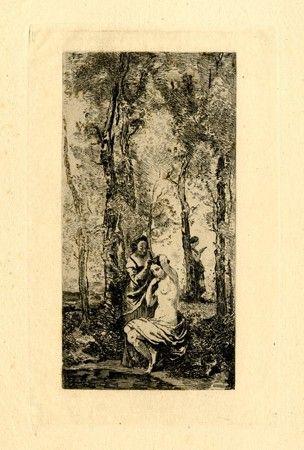 Гравюра Corot - La toilette
