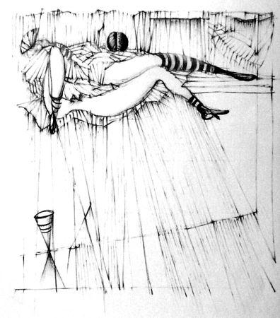 Офорт Bellmer - La toupies