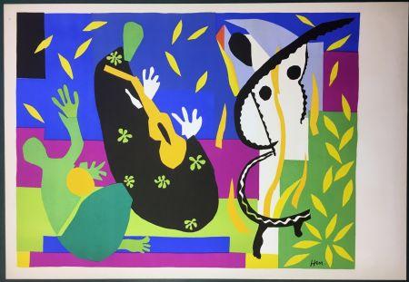 Литография Matisse - LA TRISTESSE DU ROI. Lithographie sur Arches 1952 (tirage original)