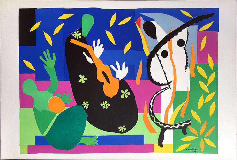 Литография Matisse - LA TRISTESSE DU ROI. Lithographie sur Arches 1958 (tirage original. Tériade éditeur)