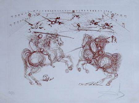 Гравюра Dali - La Vida es un Sueno Los Cabaleros (combat de cavaliers) (14)