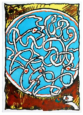 Литография Alechinsky - Labyrinthes d'Apparat II