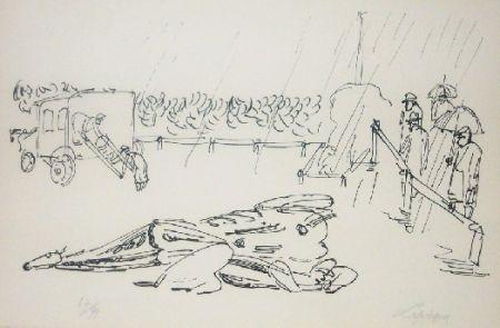 Литография Lapicque - L'accident