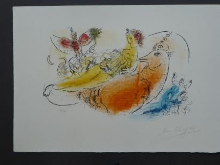 Литография Chagall - L'accordéoniste , 1957