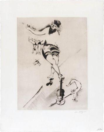 Офорт Chagall - L'acrobate au violon