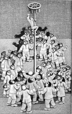 Гравюра На Дереве Morena - L'albero della cuccagna