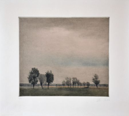 Mezzotint Ilsted - Landscape In Falster