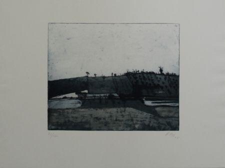 Офорт И Аквитанта Biederbick - Landschaft / Landscape