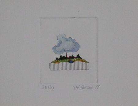 Офорт И Аквитанта Franke - Landschaft / Landscape