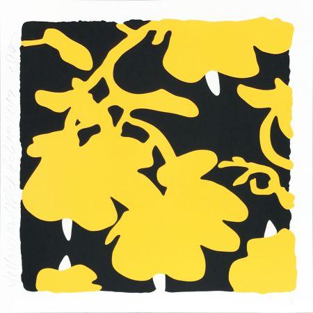 Сериграфия Sultan - Lantern Flowers (Yellow/black)