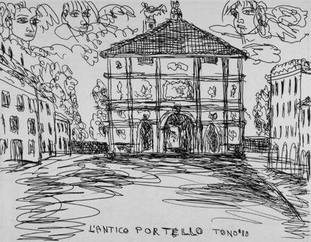 Офорт Zancanaro - L'antico Portello