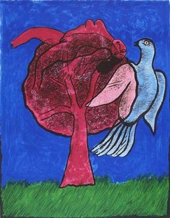 Литография Corneille - L'Arbre Rouge