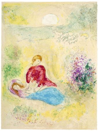 Литография Chagall - L'Arondelle (The Little Swallow from Daphnis & Chloé - 1961)