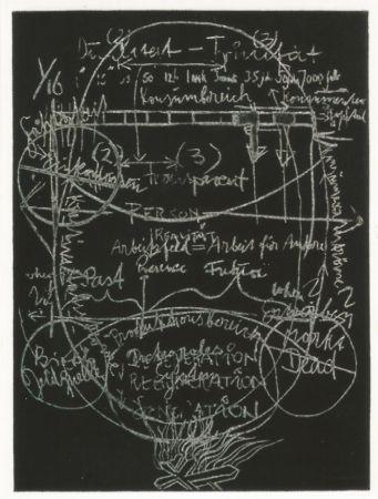Акватинта Beuys - L'arte è una zanzara dalle mille ali - III