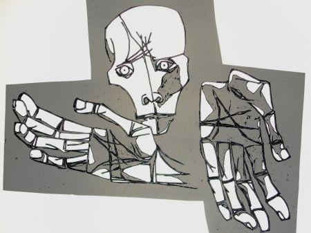 Гравюра Guayasamin - Las manos desoladas
