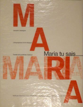 Иллюстрированная Книга Masson - LASSAIGNE, Jacques. Maria tu sais
