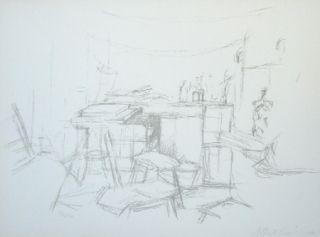 Литография Giacometti - L'Atelier aux bouteilles