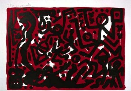Литография Penck - Lausanne 2 Aber Hallo