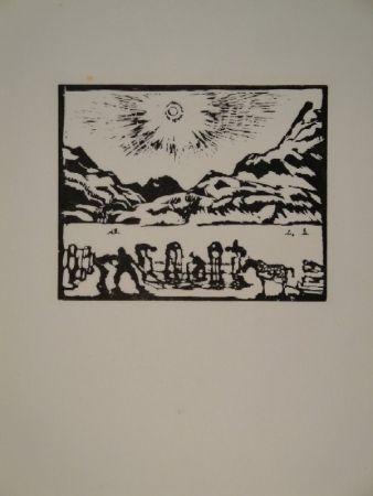 Гравюра На Дереве Giacometti - Lavoratori del ghiaccio, die Eisbrecher