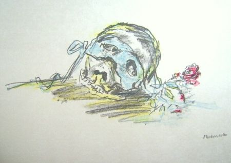 Литография Kokoschka - Le Bal Masqué