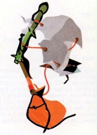 Литография Telemaque - Le balai