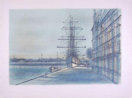 Литография Carzou - Le Bateau école à Venise