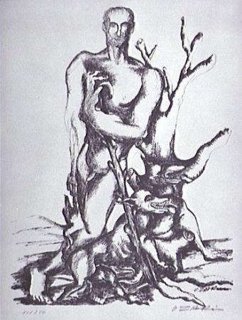 Литография Zadkine - Le berger de Gerion