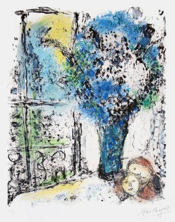 Литография Chagall - Le Bouquet Bleu (The Blue Bouquet)