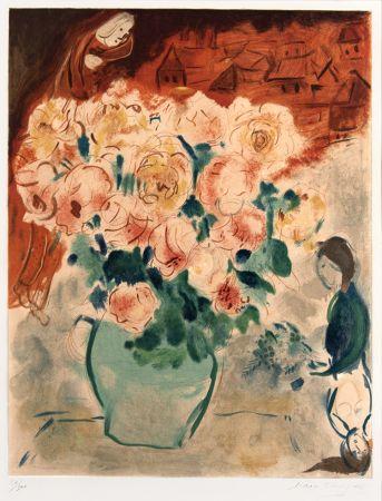 Литография Chagall - Le Bouquet (The Bouquet)