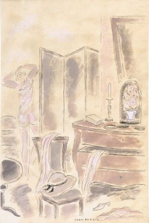 Иллюстрированная Книга Berque - Le bruit du silence.  Gouaches originales de Jean Berque.