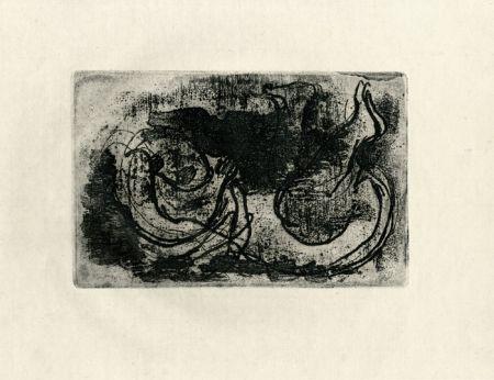 Офорт Fautrier - Le cadavre (Fautrier l'enragé)