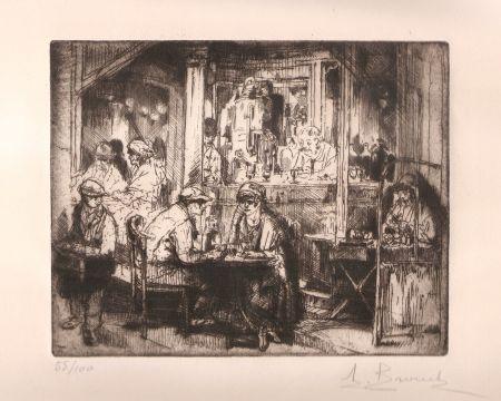 Гравюра Brouet - Le Café
