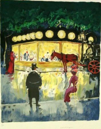 Литография Van Dongen - Le Carrousel Au Bois De Boulogne