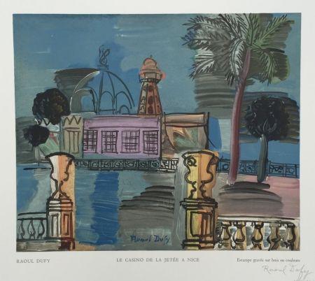 Гравюра На Дереве Dufy - Le Casino de la Jetée à Nice