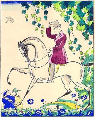 Трафарет Bonfils - Le cavalier