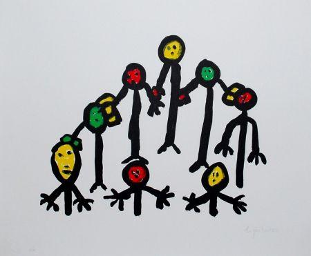 Литография Ionesco - Le cercle familial