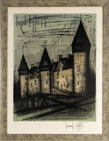 Литография Buffet - Le château de Culan