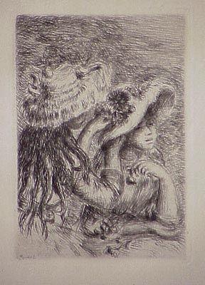 Гравюра Renoir - Le chapeau épinglé, in Renoir et ses amis