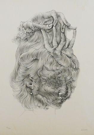 Литография Bellmer - LE CHAPEAU MAIN