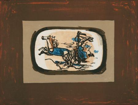 Литография Braque - Le char II