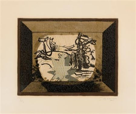 Литография Braque - Le Char (The Chariot III)