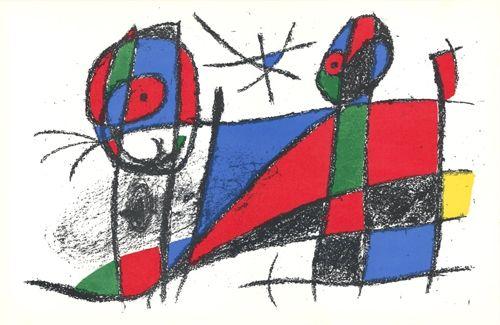 Литография Miró - Le chat heureux / The Happy Cat