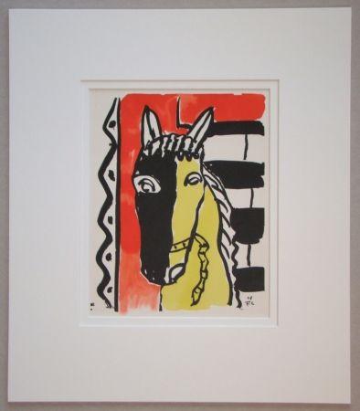 Трафарет Leger - Le cheval sur fond rouge - 1948
