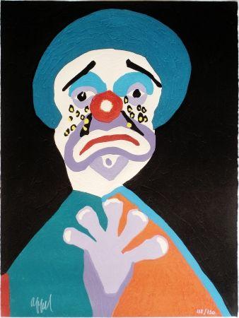 Гравюра На Дереве Appel - Le Clown aux Larmes d' Or