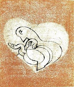 Гравюра Сухой Иглой Ernst - Le Coeur à gaz.