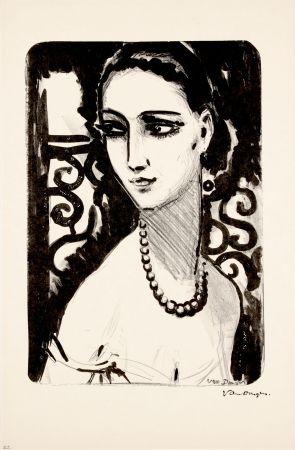 Литография Van Dongen - Le Collier de Perles