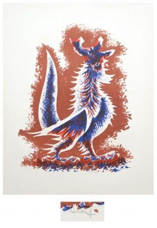 Литография Lurcat - Le coq