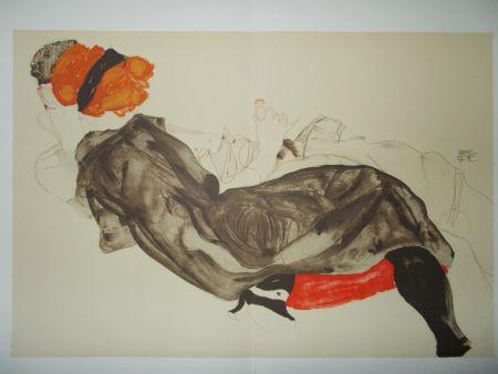 Литография Schiele - Le couple