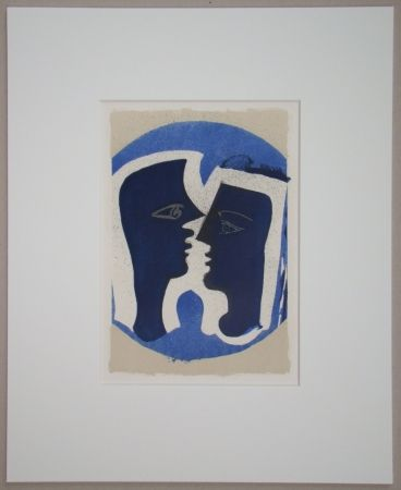 Литография Braque - Le Couple - Lettera Amorosa